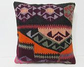 20x20 kilim pillow 20x20 orange red pink decorative pillow oriental pillow euro pillow case large cushion cover large boho pillow case 26714
