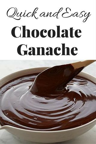 Easy Chocolate Ganache - Southern Sisters Home