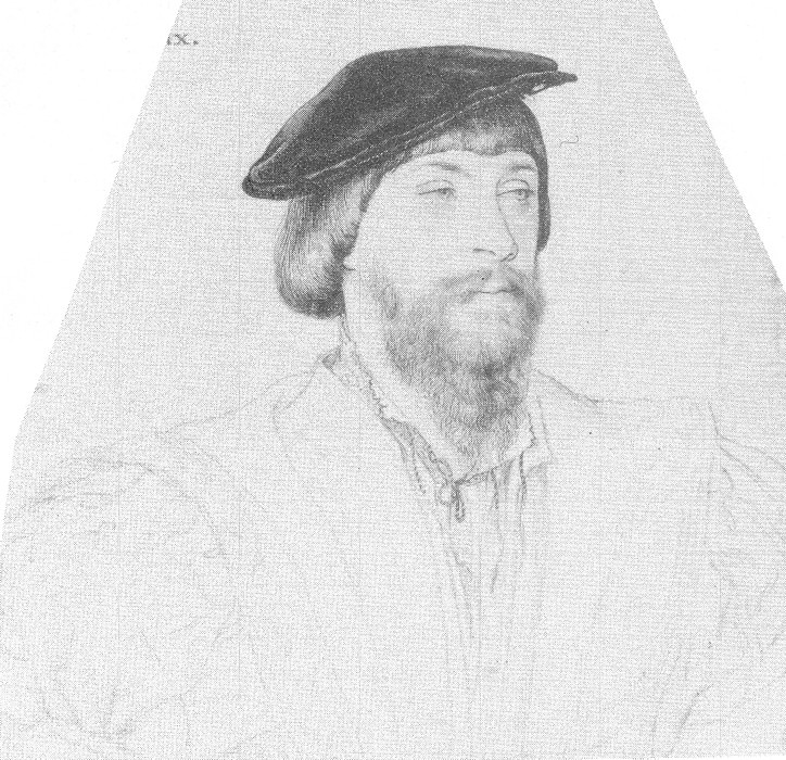 Thomas, 2nd Baron of Vaux by Hans Holbein, c.1532-35. (The Royal Collection)