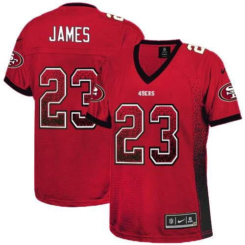 nike nfl jersey Nike Vernon Davis Red Team Color Women's Embroidered NFL  Elite Drift Fashion Jersey nfl jersey by nike