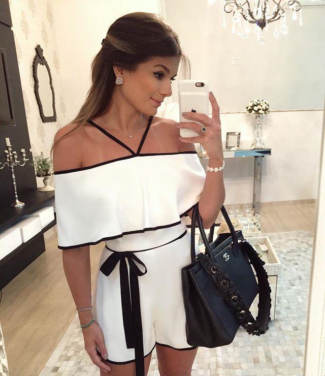 {Sunday ✨ P&B} Macacaquinho @missmaryriopreto lindo! • #ootd #selfie #lookdodia #lookoftheday #blogtrendalert