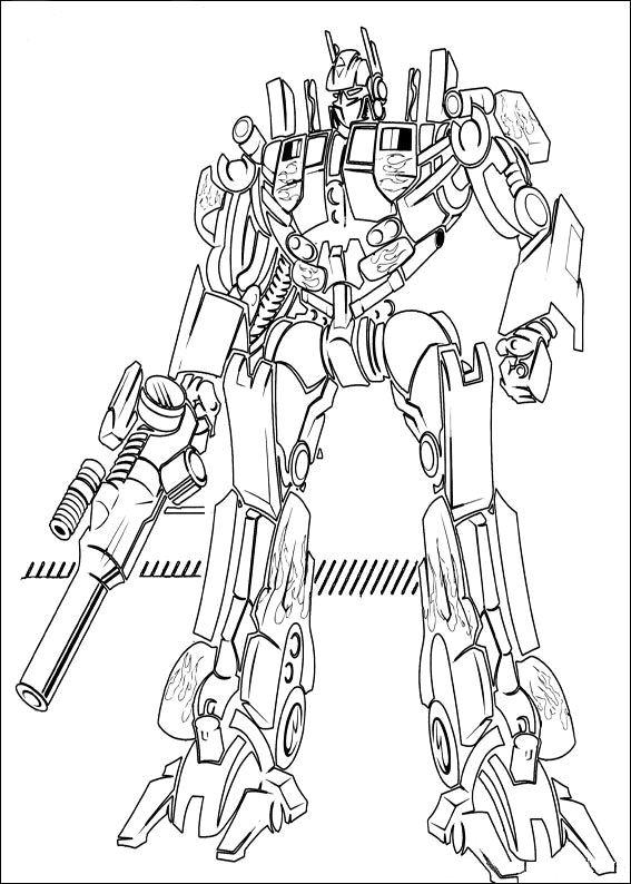 Printable Optimus Prime Coloring For Boys