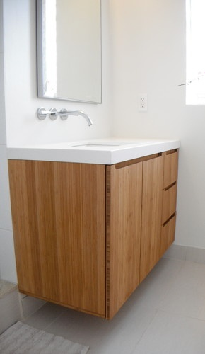 Bamboo Shown For Vanity Cabinet Material Only