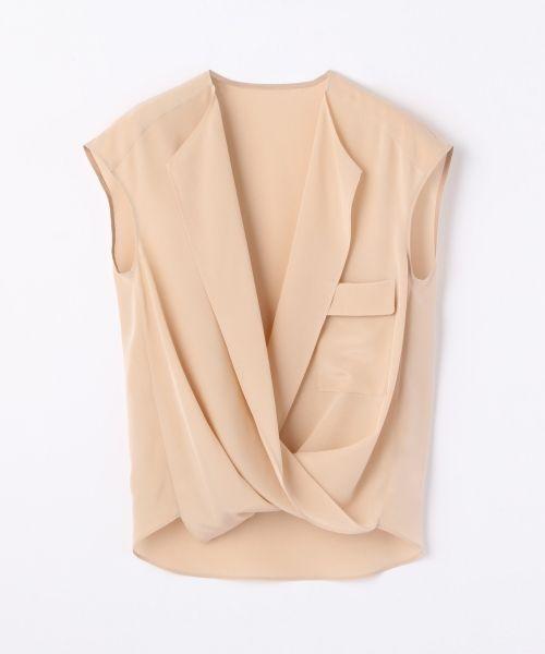 シルクデシン カシュクールブラウス(シャツ・ブラウス) | TOMORROWLAND/トゥモローランド のファッション通販サイト - セレクトスクエア