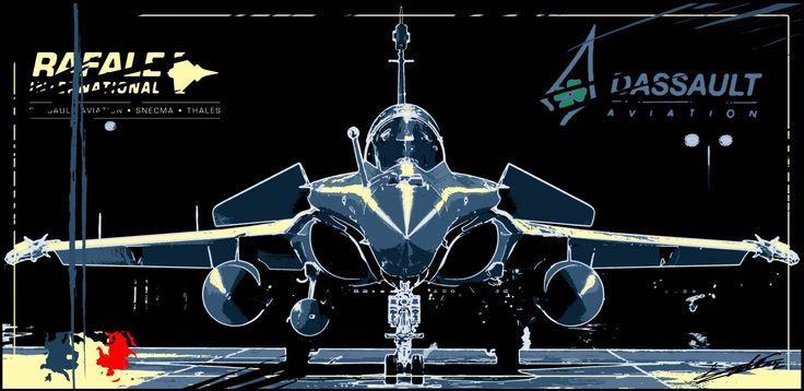 Tableau peinture acrylique moderne pop art avion chasse Rafale Dassault déco noir blanc gris