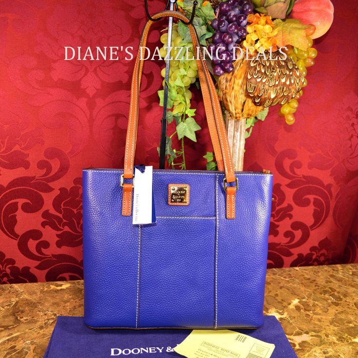 Dooney & Bourke NWT Pebble Sm Leather Lexington Shopper Tote CLASSY COBALT BLUE
