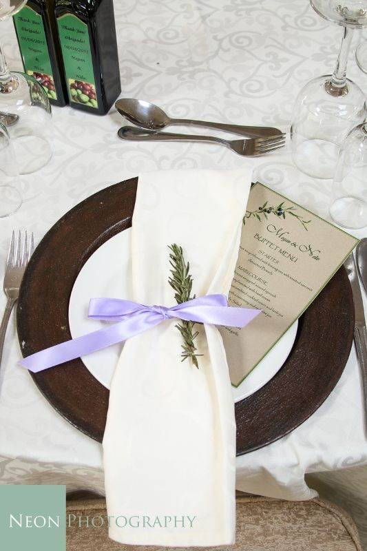 Dilightful Flowers and Ruby Moon Decor - Rustic Base Plate with Lavender Detail