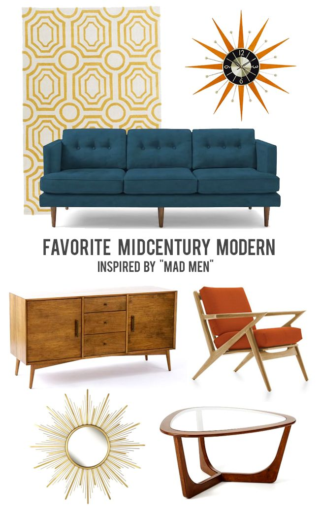 Our favorite mad men inspired home decor mid century modern pinterest inspiration your Home decor modern pinterest