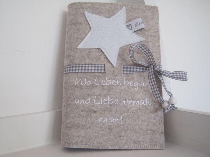 """Mutterpasshülle+""""Wo+leben+beginnt..""""+von+*allesausliebe*+auf+DaWanda.com"""