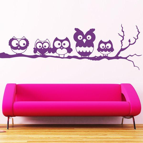 vinilo de buhitos ideal para decorar las paredes de casa