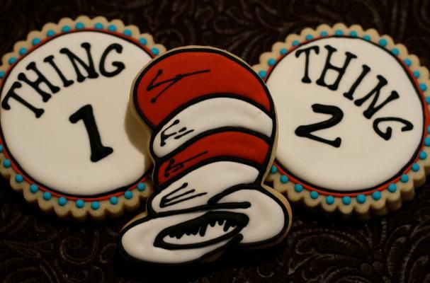 michael jordan online shop Thing 1  amp  Thing 2 cookies  Cat In The Hat cookies  party favor ideas