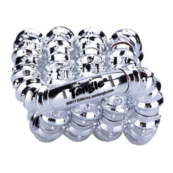 Christmas 2017 Stocking Stuffer for our beautiful daughter.  Zuru Tangle Sparkle Series Fidget Toy - Silver.  A fun fidget toy she can put on her wrist and fidgit with in between presentations during those long days of numerous business meetings and presentations.