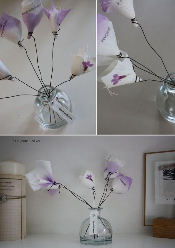 Les fleurs de Marjorie Colas. Un M en plus:  http://unmenplus.canalblog.com/