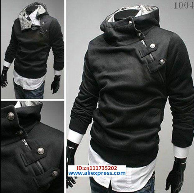 New coats men outwear Mens Special Button Hoodie Jacket Coat men clothes  History:  Feedbacks (82) 124 Orders (130 pieces )  Price:  US $19.99