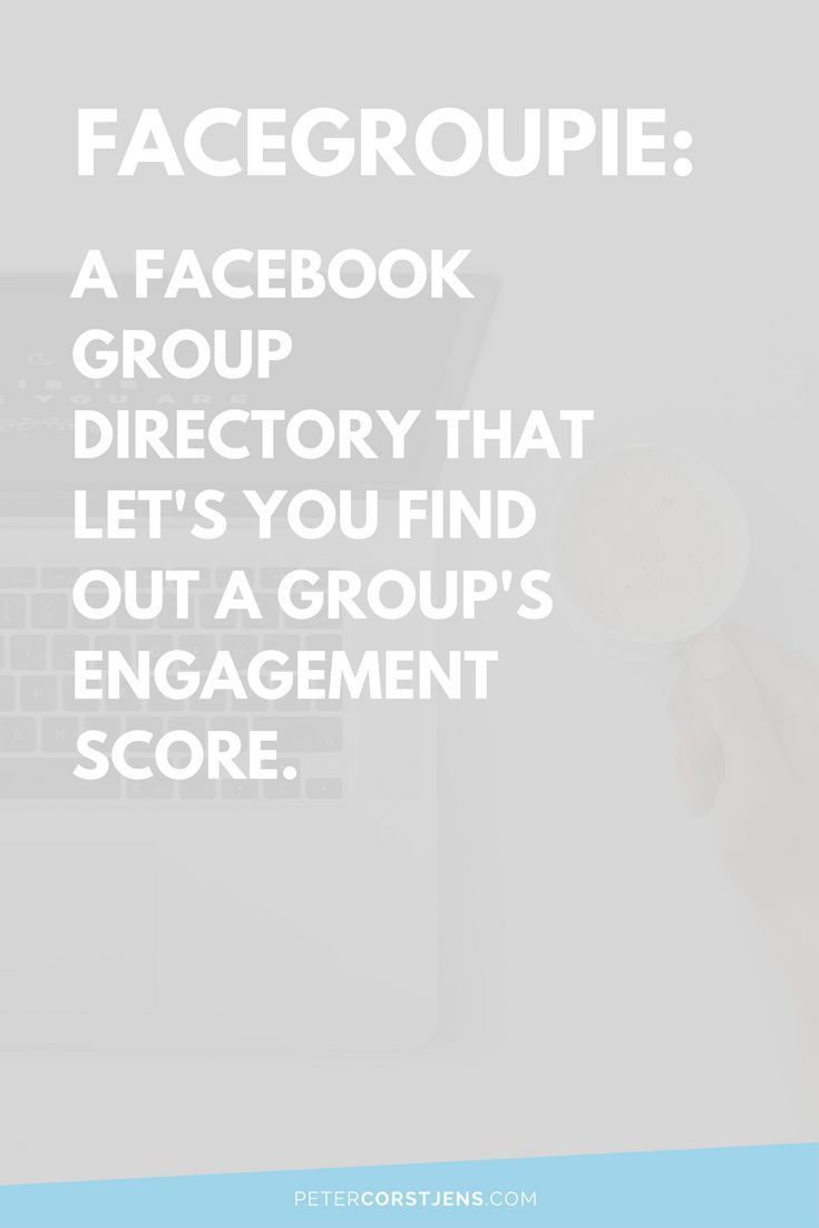 Aren't you sick and tired of always guessing if a Facebook group is going to be worth your time joining? We'll, I was. So I created FaceGroupie. FaceGroup lists the group and its information, along with the engagement score of its members. Check it out! #facebookgroups #facebook #socialmedia