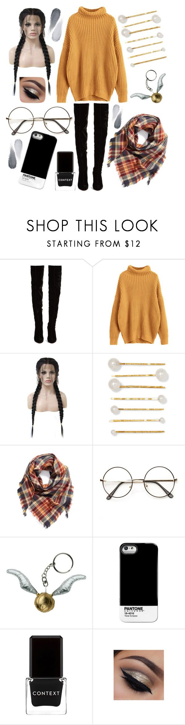 """""""Untitled #438"""" by hampster12 ❤ liked on Polyvore featuring Christian Louboutin, WithChic, Jennifer Behr, BP., Pantone Universe, Context and Clé de Peau Beauté"""