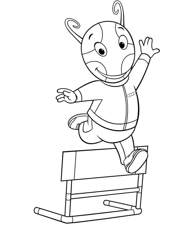 backyardigans coloring pages for kids free