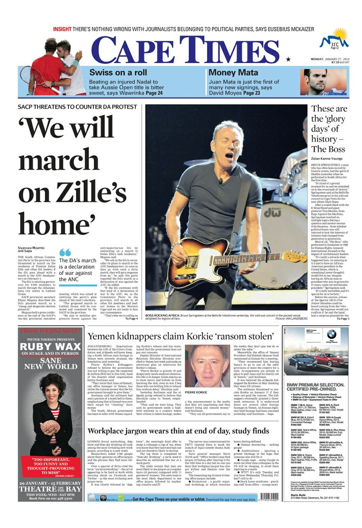 News making headlines: We will march on Zille's home
