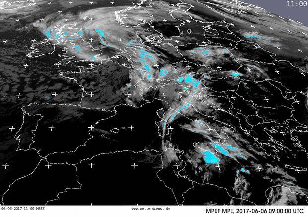 Satellitenfilm Europa - Wetterdienst.de