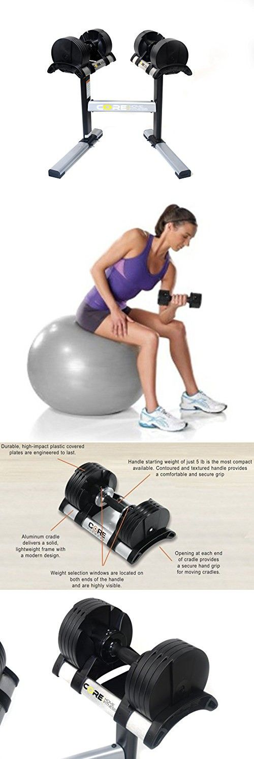 Adjustable Dumbbell Set & Stand By Core Home Fitness - Space Saver - Dumbbells For Your Home - Weights -