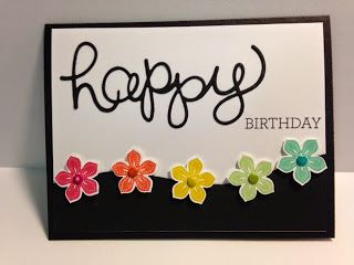 A Petite Petals, Crazy about You, Birthday Card, Stampin' Up!, Rubber Stamping, Handmade Cards