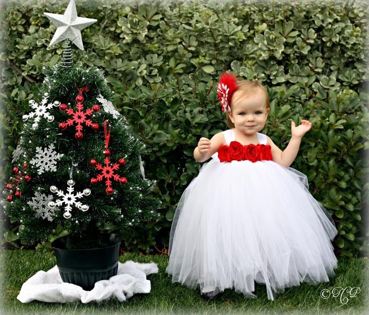 Christmas Tutu Dress, Tutu Dress, Flower Girl Dress 2 Toddler to 4 Toddler. $62.00, via Etsy.