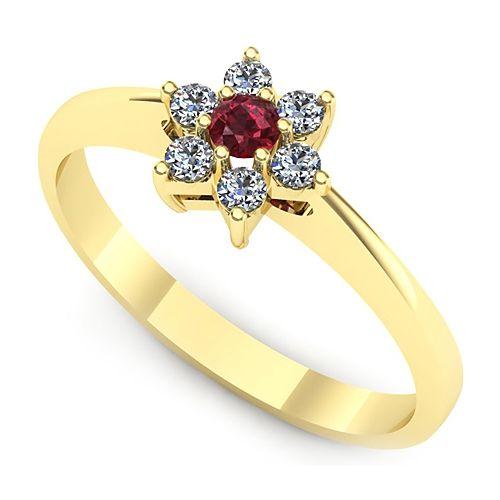 Inel cu rubin si diamante L76GRB