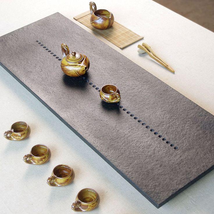 Tangxing large piece of black stone tray stone black stone tea sets tea sea kung fu tea saucer quote] [Image price brand - Jingdong