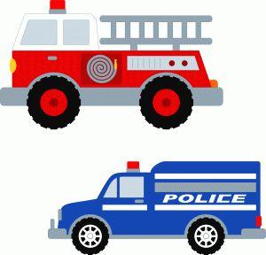 Silhouette Online Store - View Design #56232: trucks fire & police