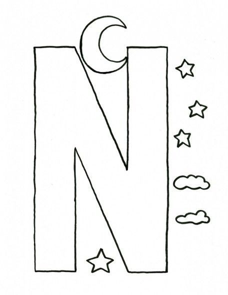 Alphabet-Letter-N-Craft-Template-For-Kids: | derricious ...