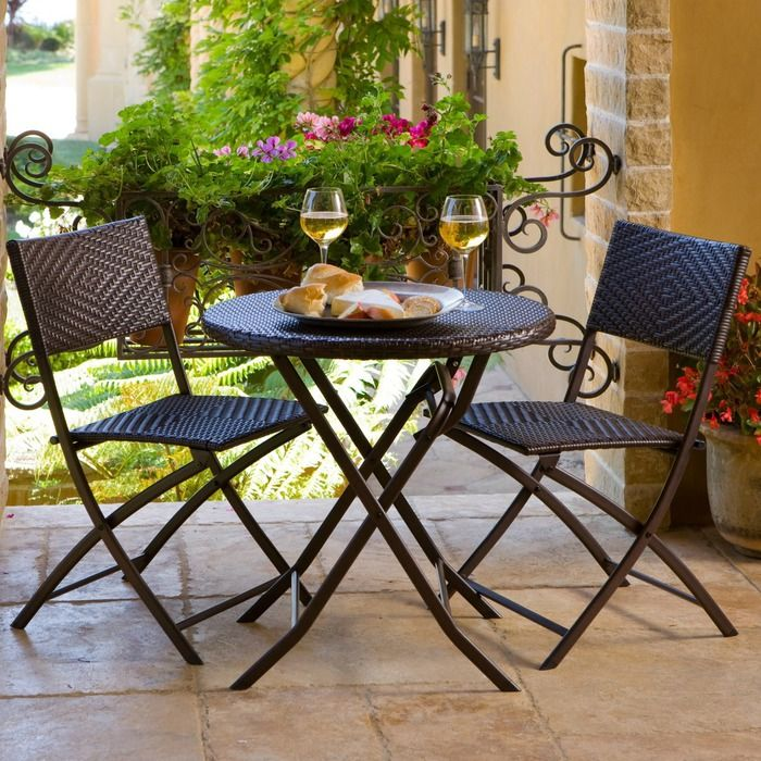 folding outdoor patio bistro sets