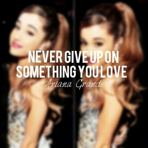 Ariana Grande quote-- love her. she is such an inspiration to me to do and wear what you love (while not caring what anyone thinks) and still be a kid.