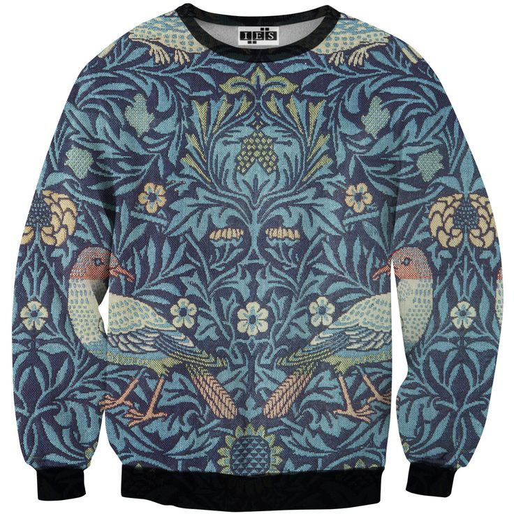 """""""Blue Bird"""" Printed Sweater by MR. GUGU & MISS GO 