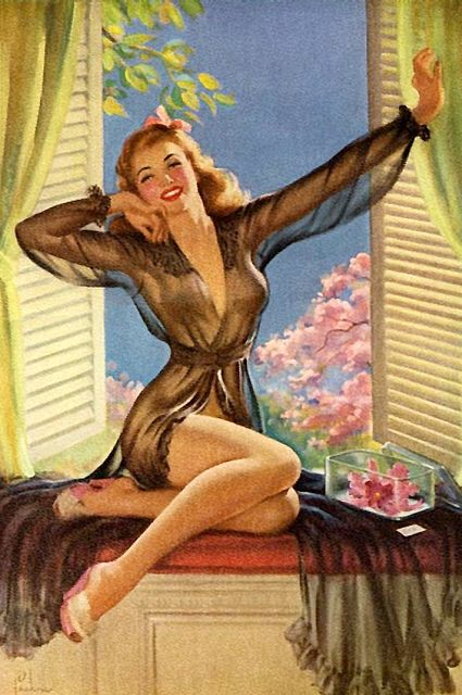Good morning, sunshine! #vintage #pinup #art #lingerie