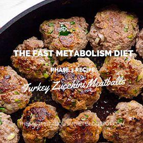 the fast metabolism diet phase 3 recipe: turkey zucchini meatballs,