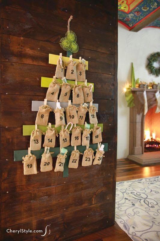A espera do natal.... calendário de advento - Reciclar e Decorar                                                                                                                                                                                 Mais