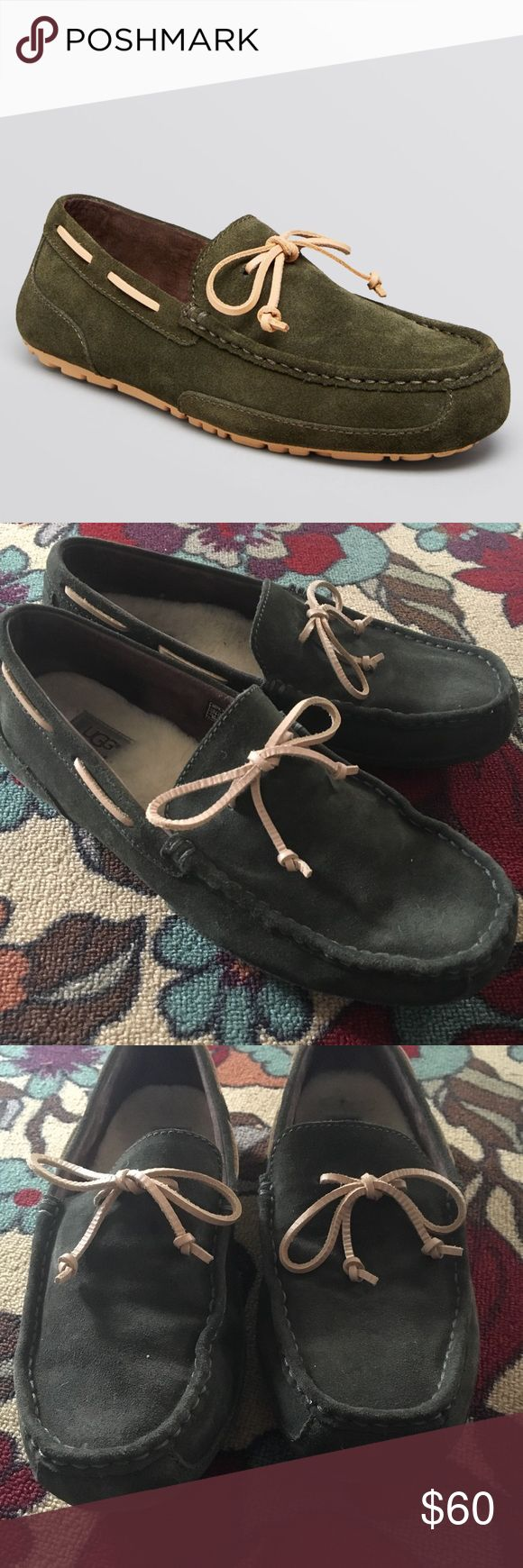 Ugg Men's Chester Loafer Slippers Barely worn men's loafers with two different insoles so they can be slippers or regular loafers. Leather inserts have never been used. Slippers have been worn only a handful of times around her house by my husband. UGG Shoes Loafers & Slip-Ons