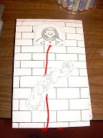 Walls of Jericho Craft | This week we are learning about Rahab and the spies. The children will ...