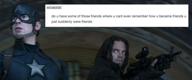 Hah this is not funny it should not be funny how dare ye' poke fun at Bucky's missing memories!!!!