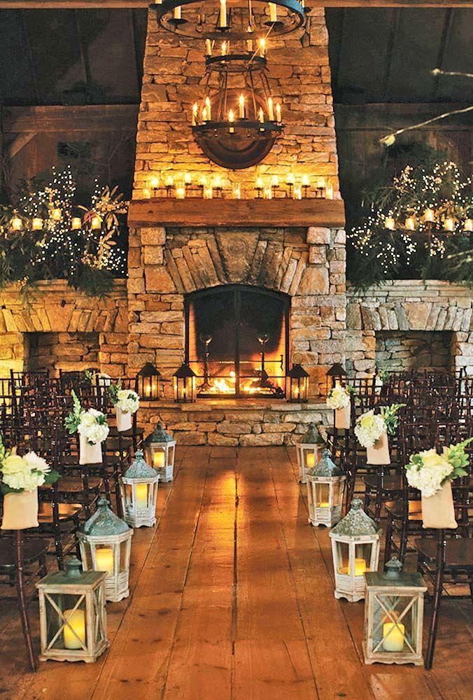 Ideas Of Cozy And Fancy Rustic Winter Wedding ❤ See more: http://www.weddingforward.com/rustic-winter-wedding/ #weddings