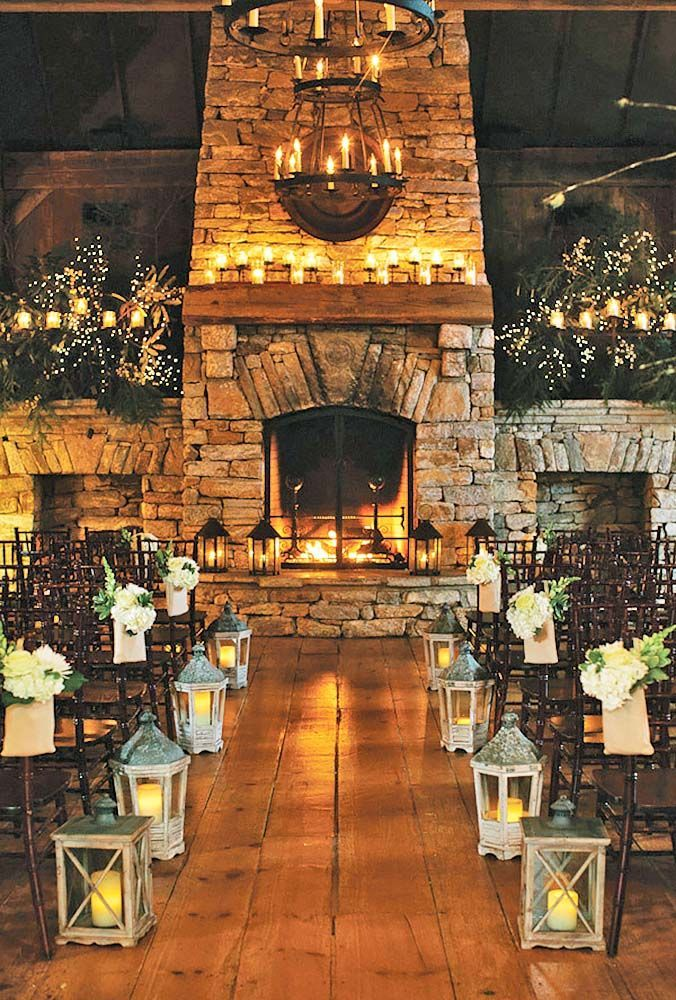 Ideas Of Cozy And Fancy Rustic Winter Wedding ❤ See more: http://www.weddingforward.com/rustic-winter-wedding/ #weddings