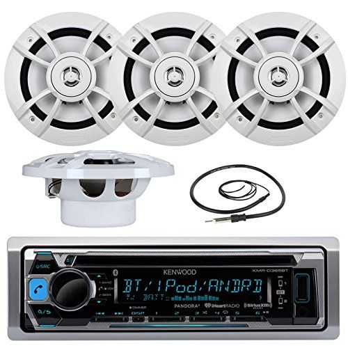 Special Offers - Great New KMR-D365BT Kenwood Marine Boat Yacht Outdoor Bluetooth Stereo CD MP3 Player USB iPod iPhone Pandora AM/FM Reciver 4 X Kenwood 6.5 Inch Waterproof Speakers Enrock Antenna  Marine Audio Kit - In stock & Free Shipping. You can save more money! Check It (November 26 2016 at 01:46AM)…