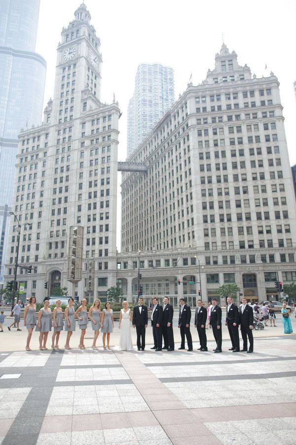 bridal party, down Chicago photoshoot!