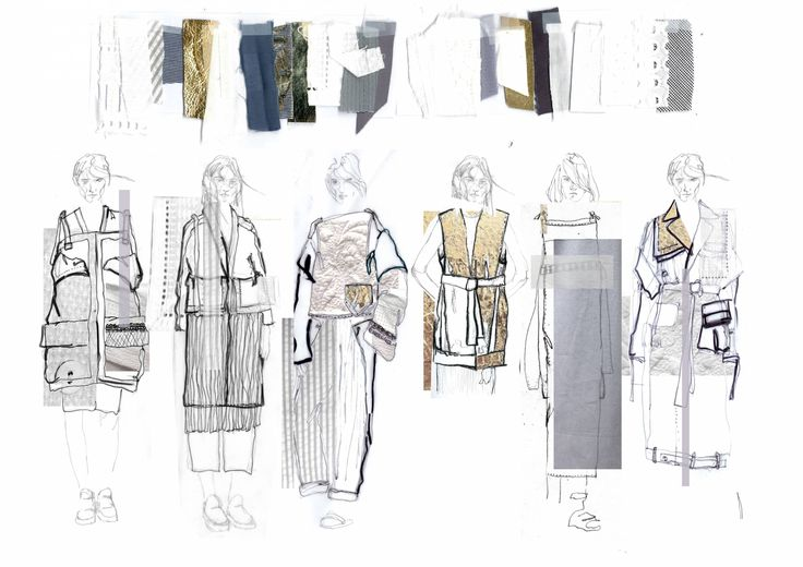 Fashion Sketchbook - fashion illustrations; fashion sketches; line up; fashion portfolio // Lowri Edwards