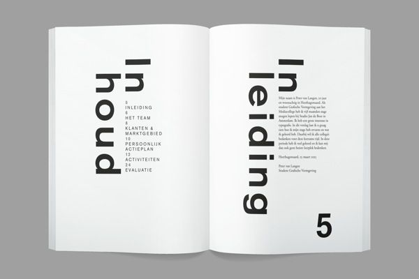 Internship Report by Peter van Langen, via Behance