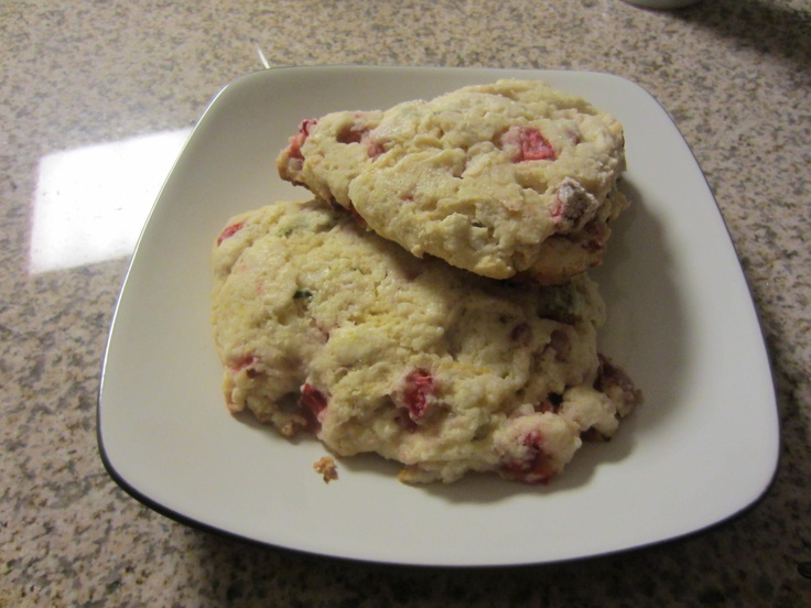 Strawberry Scones With Meyer Lemon Recipes — Dishmaps