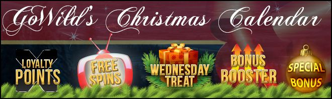 Christmas Calendar Count Down At Go Wild Casino Players