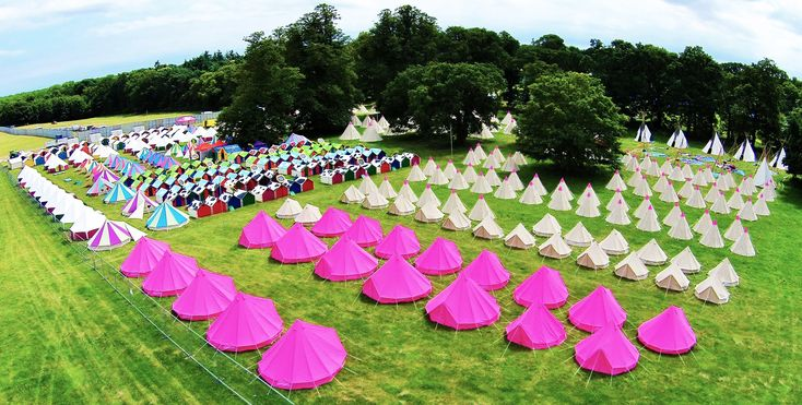 The Pink Moon campsite - festival ready! http://www.pinkmooncamping.co.uk/