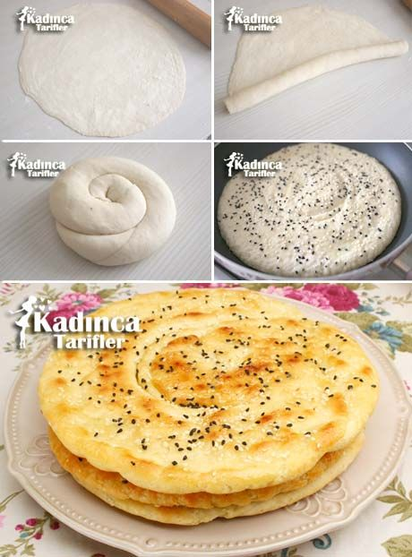 Tavada Yağlı Ekmek Tarifi:Tavada Yağlı Ekmek Tarifi İçin Malzemeler  Hamuru için;  1 buçuk su bardağı ılık su, 1 silme tatlı kaşığı tuz, 1 paket instant maya (10 gram), 3 buçuk su bardağı un (kullanılan su bardağı ölçüsü: 200 ml.). Arasına sürmek için;  1oo gram oda ısısında yumuşamış tereyağı. Üzeri için;  25 gram eritilmiş tereyağı (üzerini yağlamak için), Susam, Çörek otu.
