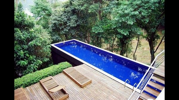 How To Build A Shipping Container Swimming Pool Modern Home Pool Cost Backyard Pool Shipping Container Swimming Pool